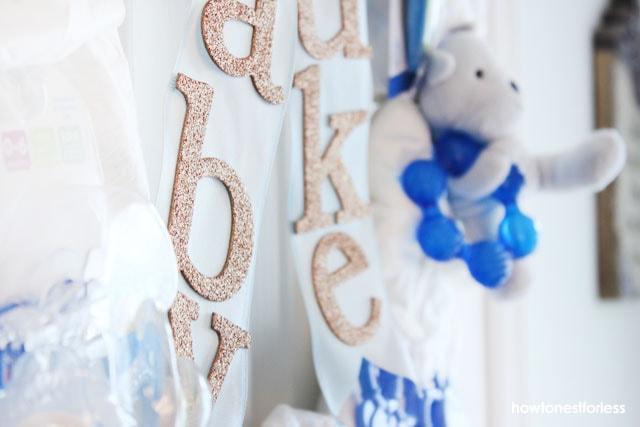 baby diaper wreath shower gift