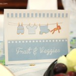 boy baby shower food card printables