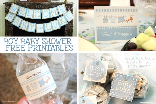 Boy baby shower free printables how to nest for less boy baby shower free printables pronofoot35fo Gallery
