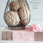 burlap and twine wrapped foam balls