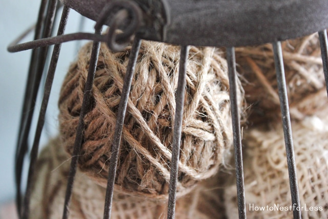 burlap twine wrapped balls from how to nest for less