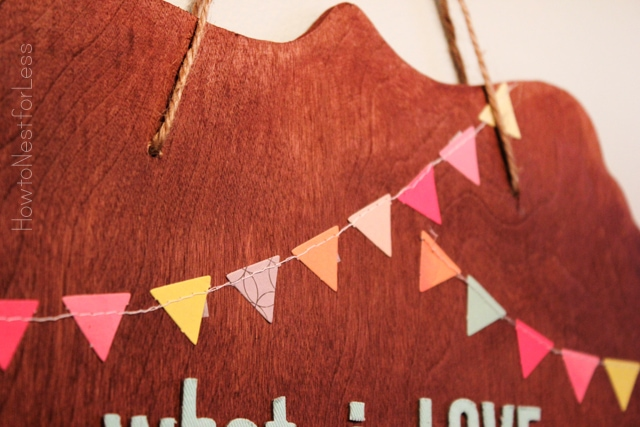 handmade bunting wood sign