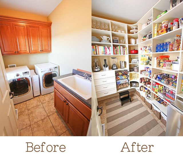 get inspired 10 amazing pantry makeovers how to nest for less. Black Bedroom Furniture Sets. Home Design Ideas