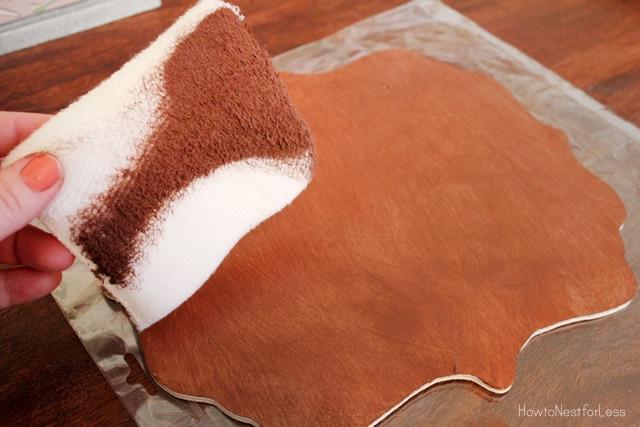 minwax express color mahogany stain