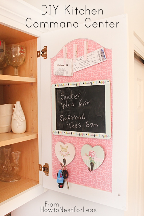 DIY Kitchen Command Center From How To Nest For Less