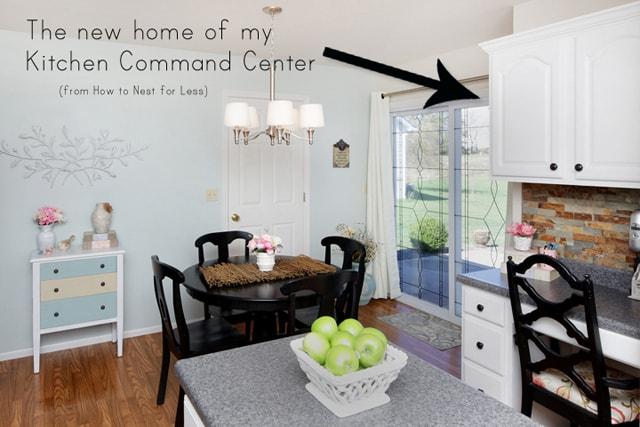 DIY kitchen command center