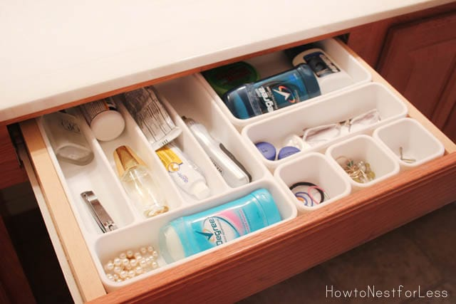 organized bathroom cabinets bathroom vanity organization how to nest for less 24106