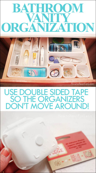 bathroom vanity organization