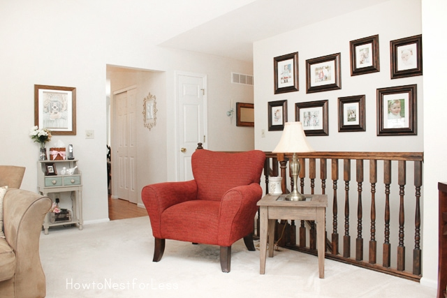 great room gallery wall