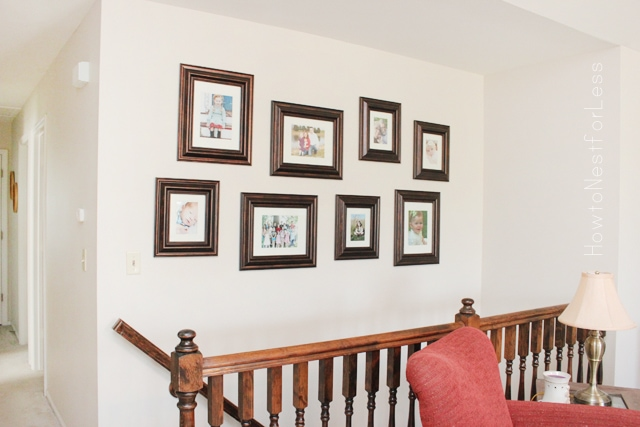 great room photo gallery wall