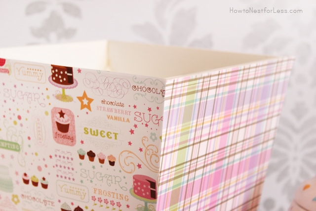 trash can scrapbook paper mod podge