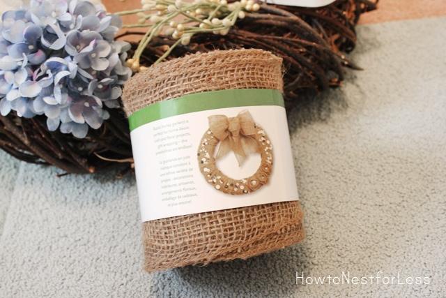 blue hydrangea burlap wreath