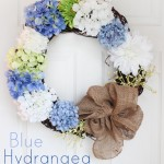 Blue Hydrangea Door Wreath
