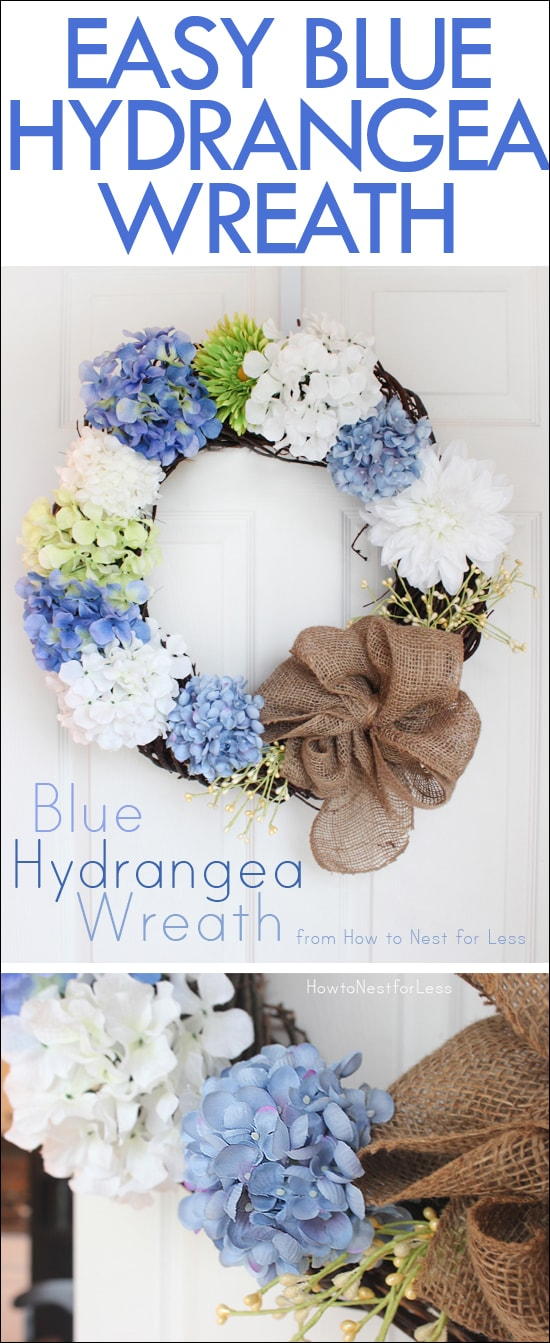 Blue Hydrangea Door Wreath How To Nest For Less