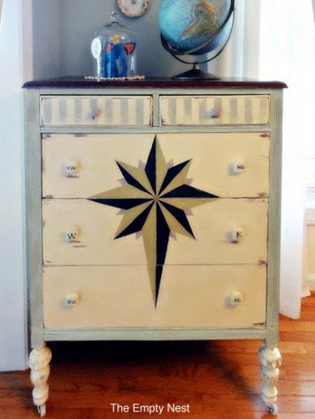 compass annie sloan chalk paint dresser