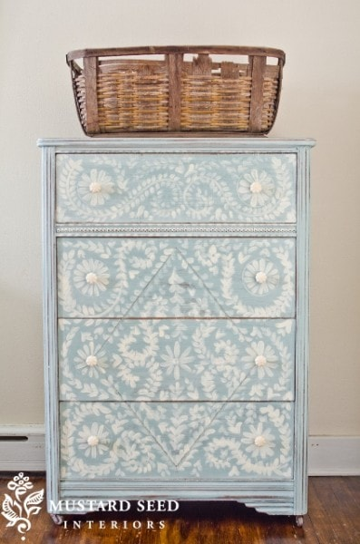 hand painted drawers makeover
