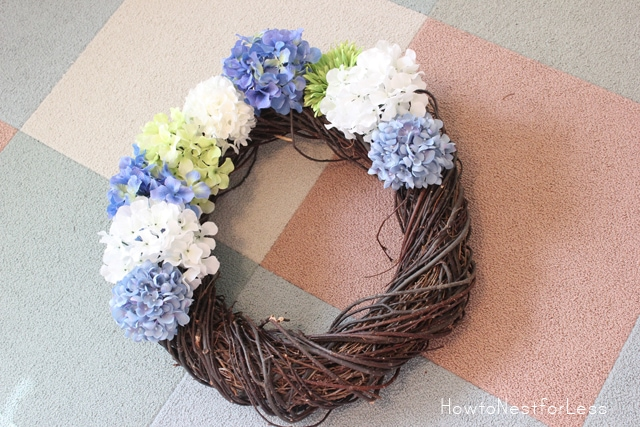 hydrangea flower wreath