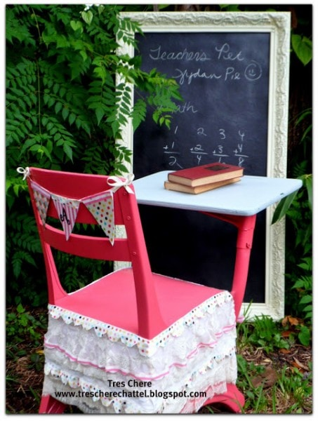 kids school desk makeover