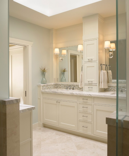 Nice satin nickel bathroom