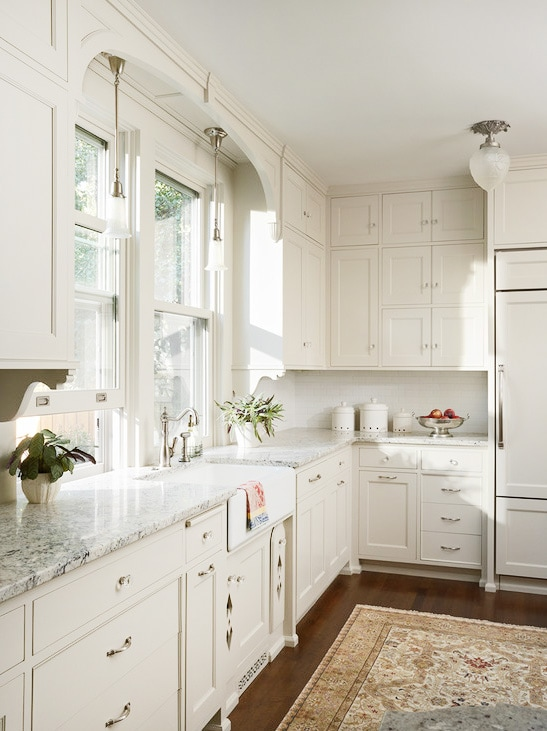 Genial Satin Nickel White Kitchen