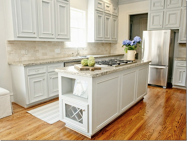 Beige Kitchen Cabinets Bronze Hardware