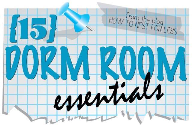 Dorm Room Checklist {Free Printable} - How To Nest For Less™