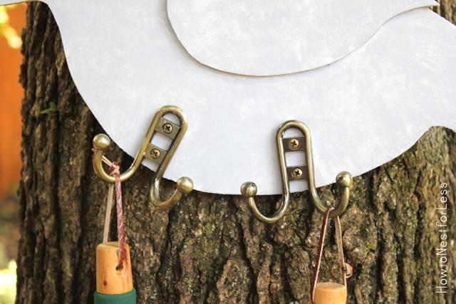 DIY garden tool hanger hooks