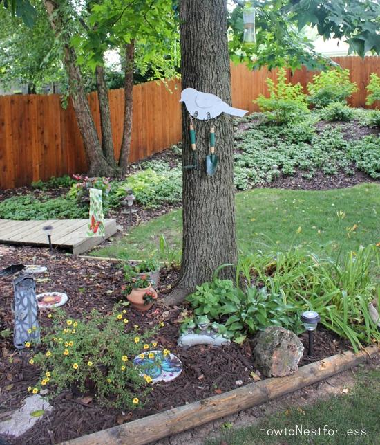 DIY garden tool hanging organizer