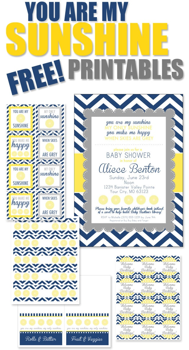 you are my sunshine baby shower printables how to nest for less