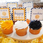 baby shower sunshine cupcake toppers