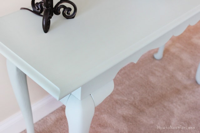 chalk paint console table makeover