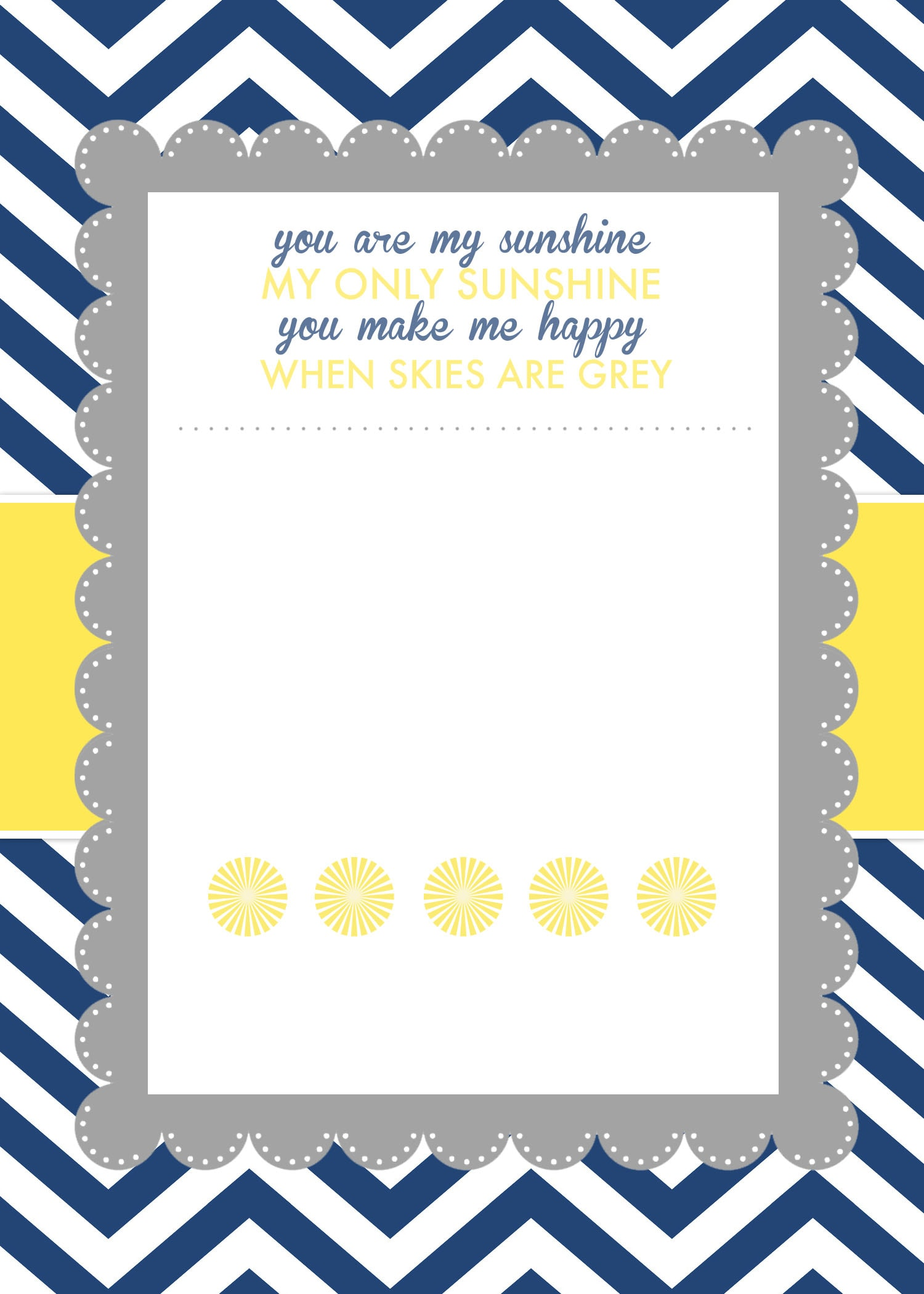 You Are My Sunshine Baby Shower Printables How to Nest for Less – Free Party Invitation Template Word