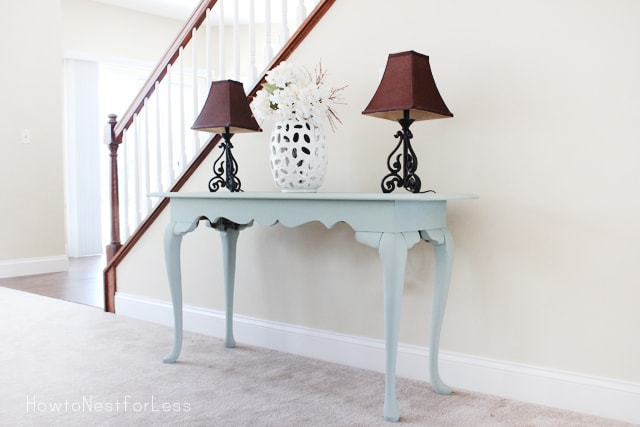 console table with annie sloan chalk paint