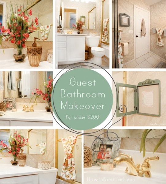 2013 in review how to nest for less for Guest bathroom makeover