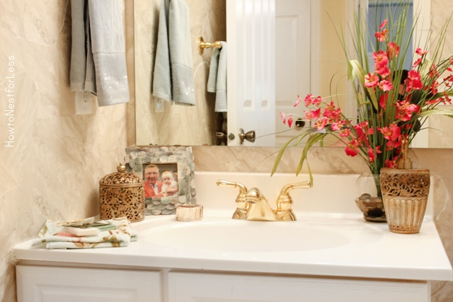 guest bathroom makeover on a budget