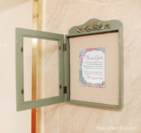guest bathroom printable