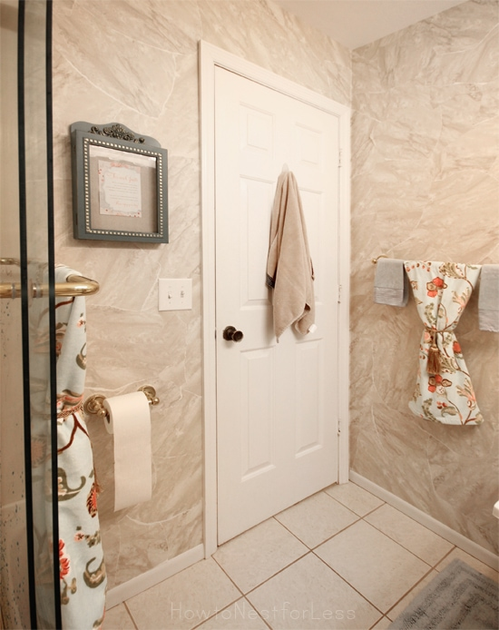organized guest bathroom makeover