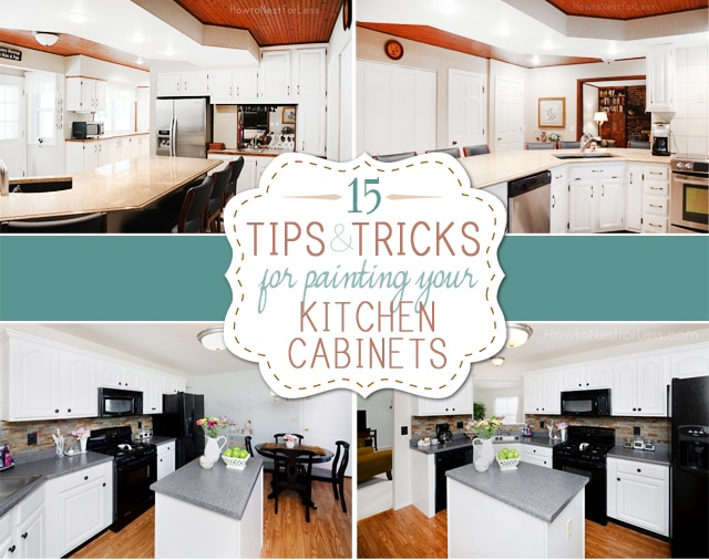 Tips and tricks for painting kitchen cabinets how to for Repainting white kitchen cabinets