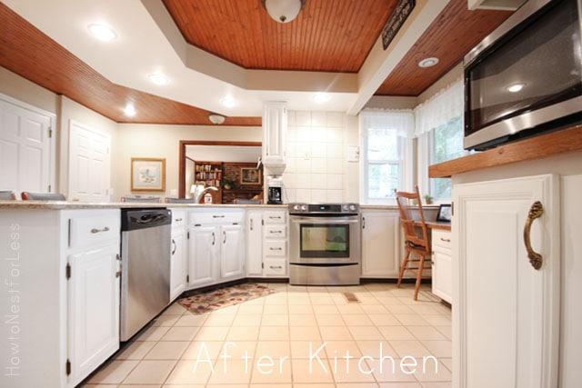 white kitchen cabinet transformation