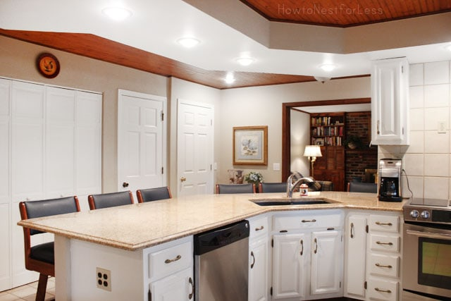 white kitchen painted cabinets