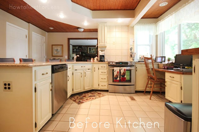 Mom's Kitchen Cabinet Makeover - How to Nest for Less™