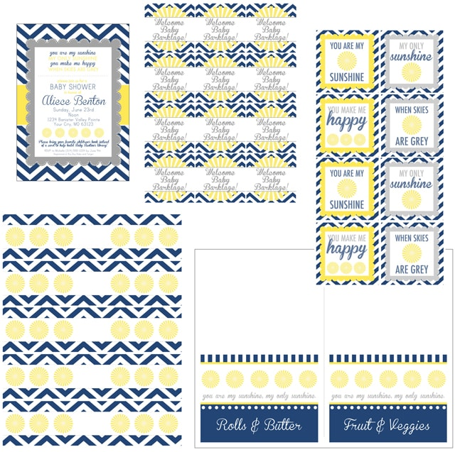 You Are My Sunshine Baby Shower Printables - How to Nest for Less™