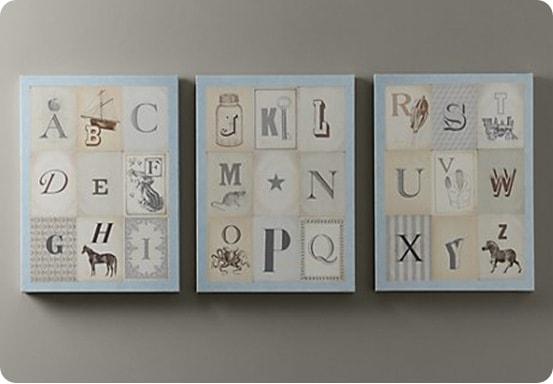 Vintage Alphabet Art Set Of 3 Part 53