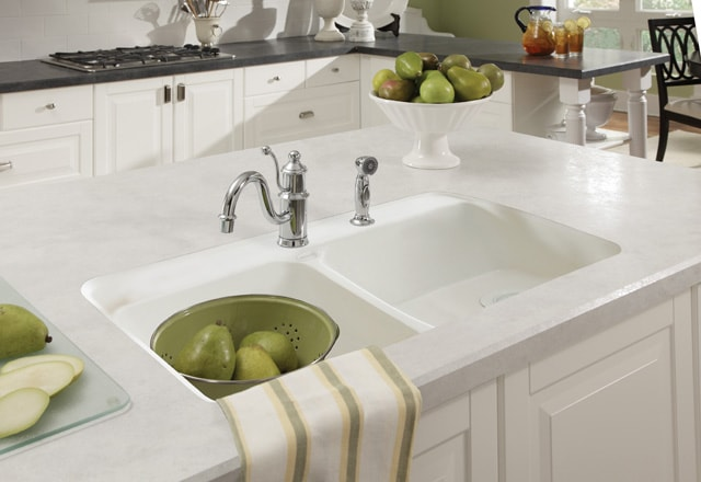 Wilsonart Carrara Santorini with HD sink