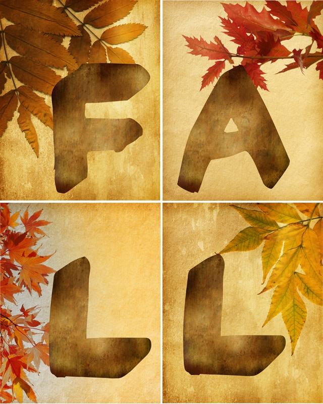 Fall Leaf Wall Art {free printables}