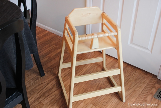 highchair makeover before
