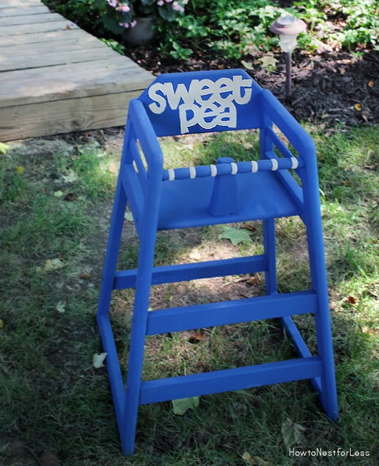 highchair makeover