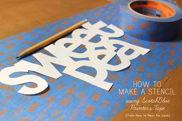 how to make a stencil with painters tape