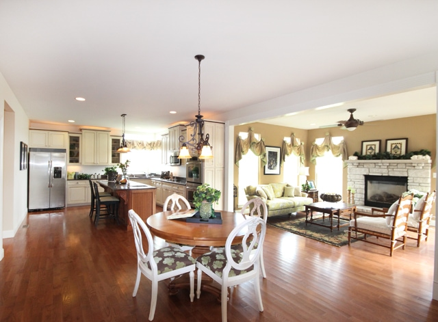 New home new kitchen how to nest for less for House plans with big kitchens and hearth rooms