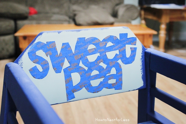 make a stencil with painters tape